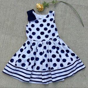 🎉HOST PICK🎉 Gymboree Navy Polka Dot Dress Size 6